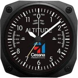 Cessna Altimeter Instrument Style Wall Clock - 6