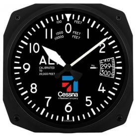 Cessna Altimeter Instrument Wall Clock - 10
