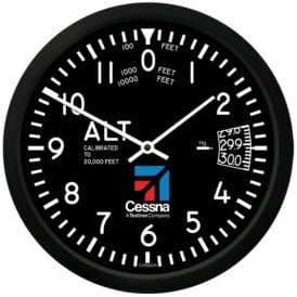 Cessna Altimeter Round Wall Clock - 10