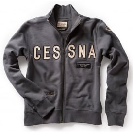 Cessna Full Zip Sweatshirt - Washed Blue