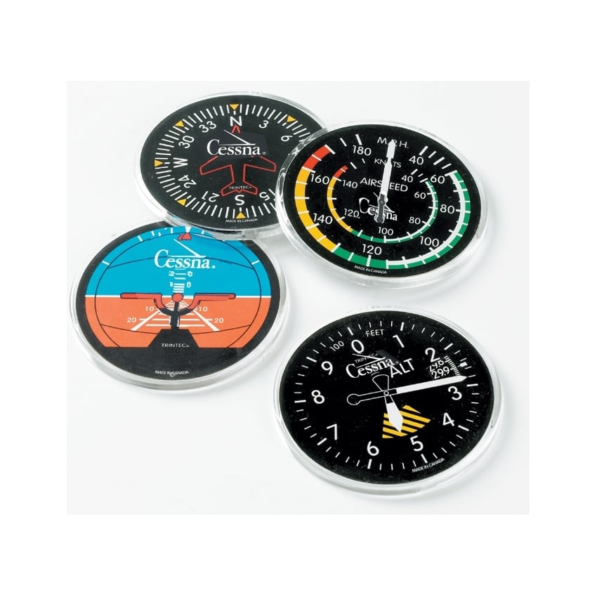 Cessna Instrument Round Coaster Set of 4