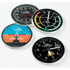 Trintec Cessna Instrument Round Coaster Set of 4