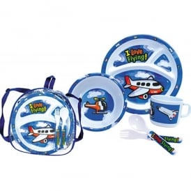 Gifts For Aviators Childrens Airplane Tableware Set