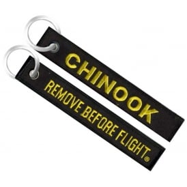 Chinook Remove Before Flight Embroidered Keyring