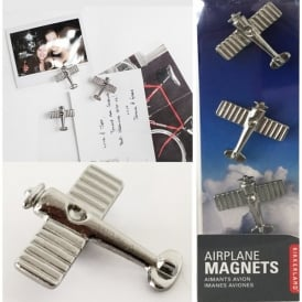 Chrome Aircraft Magnets - Set of 3