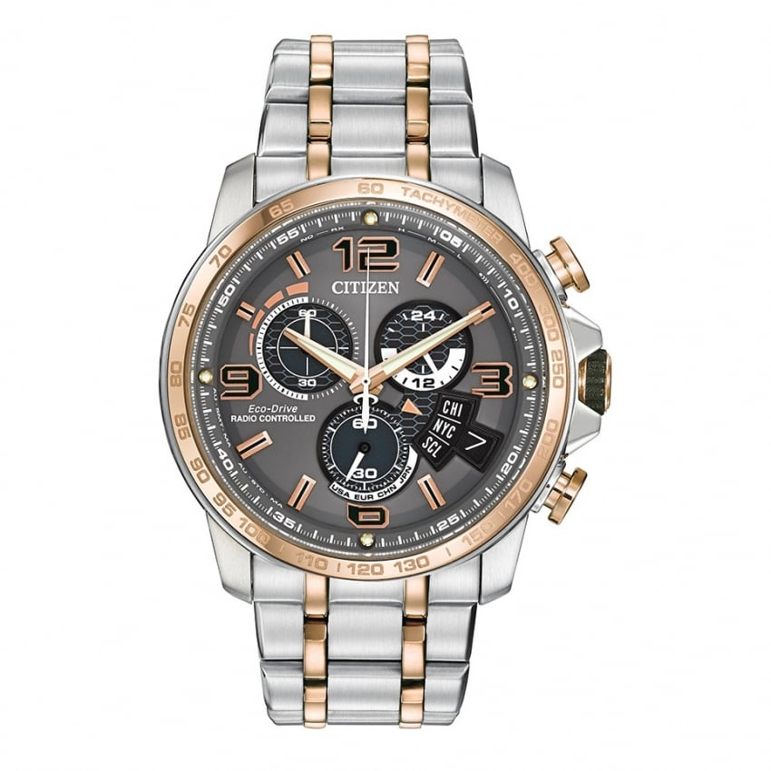 Chrono Time A-T Watch - Rose Gold Strap