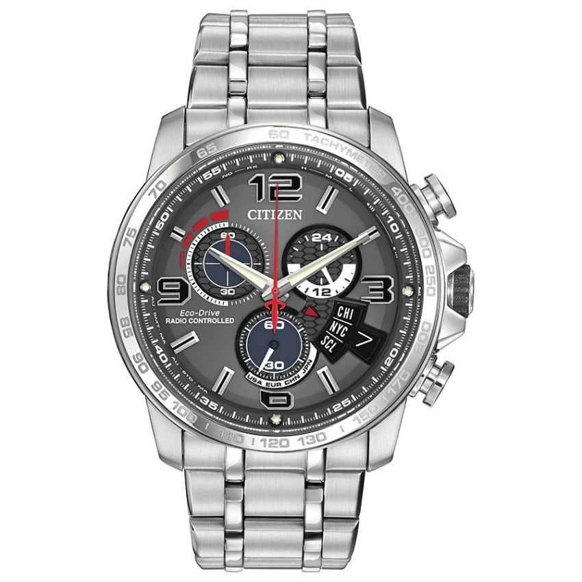 Chrono Time A-T Watch - Steel Strap