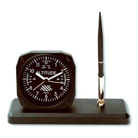 Classic Altimeter Clock and Pen Set