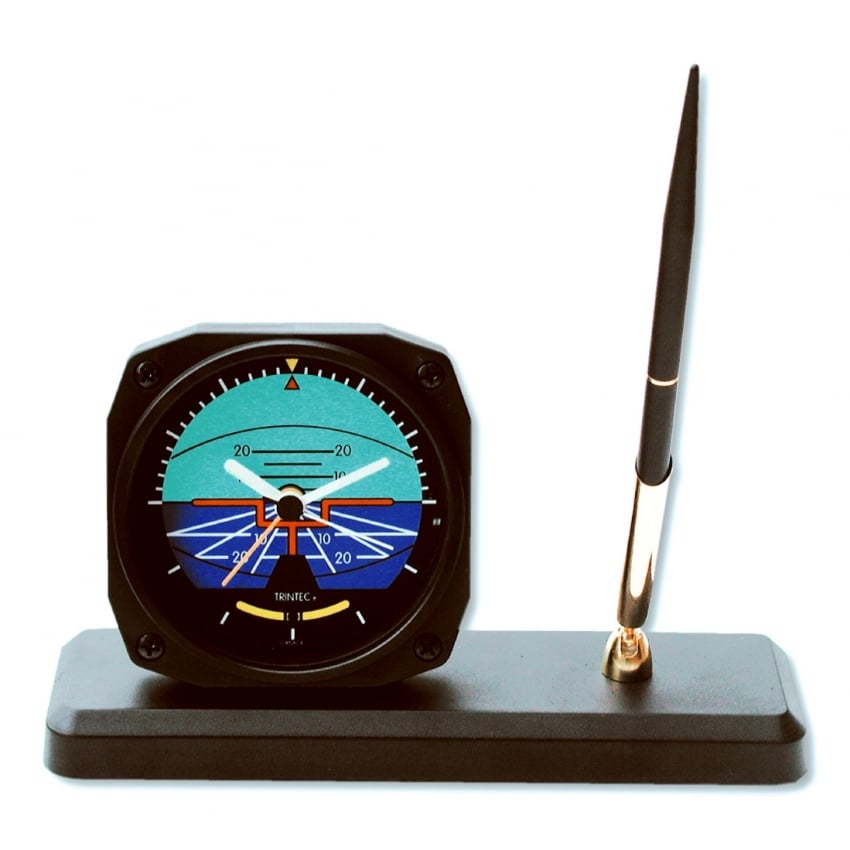 Classic Artificial Horizon Clock and Pen Set