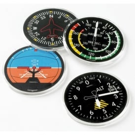 Trintec Classic Instrument Round Coaster Set of 4