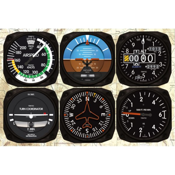 six pack of flight instruments Flight instruments are the instruments in the cockpit of an aircraft that provide the pilot with this basic six set, also known as a six pack.