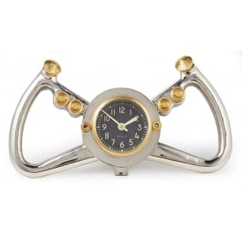 Cockpit Yoke Clock in Aluminium