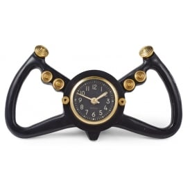 Cockpit Yoke Clock in Black