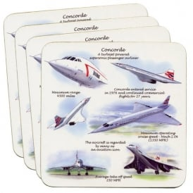 Little Snoring Concorde Coaster Set of 4
