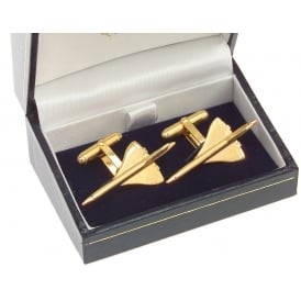Clivedon Concorde Cufflinks - Gold Plated