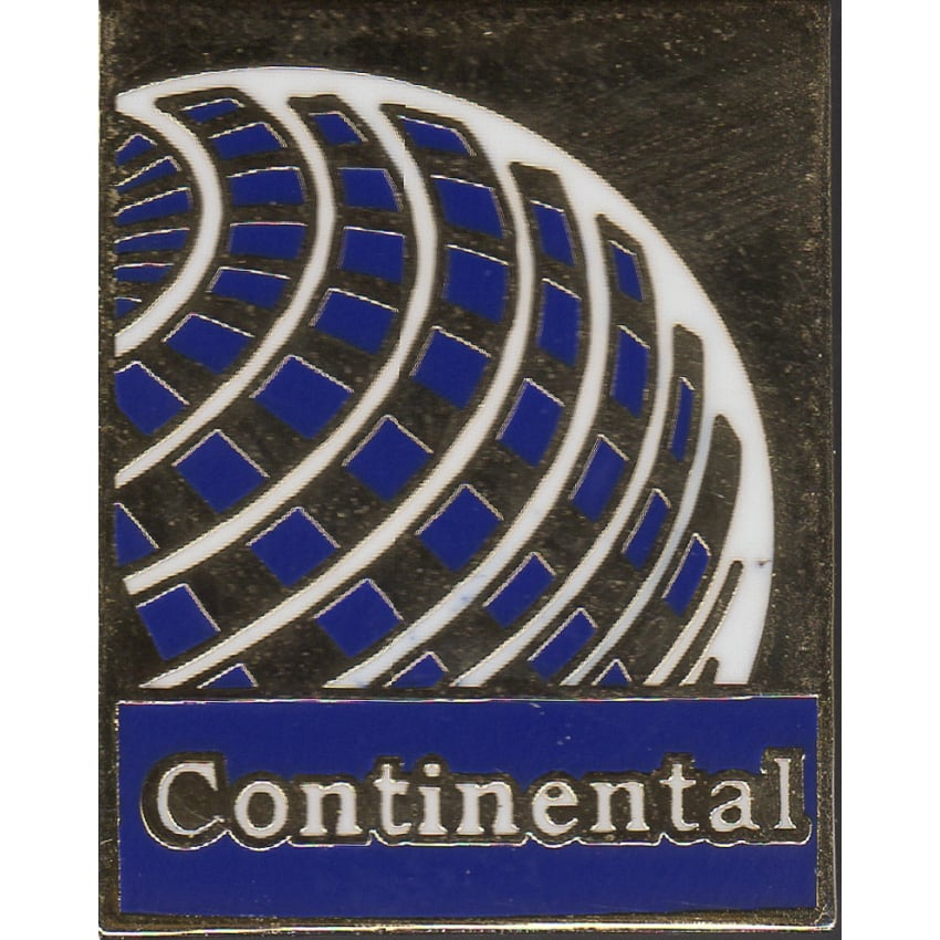 Continental Airlines Logo Pin Badge
