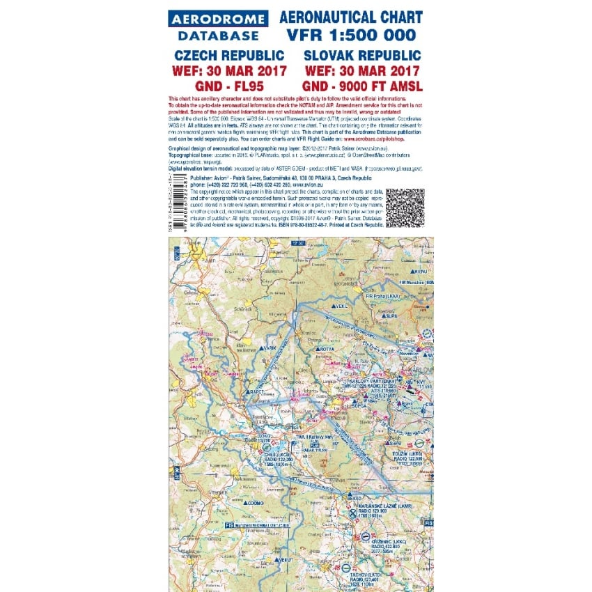 Czech Republic VFR 1:500,000 2017 Charts - Set of 2