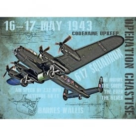 Original Metal Sign Company Dambusters Operation Chastise Fridge Magnet