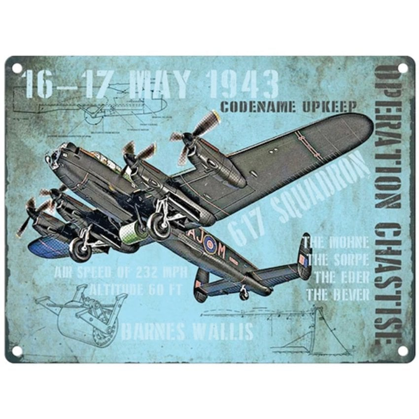 Dambusters Operation Chastise Metal Sign