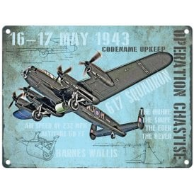 Original Metal Sign Company Dambusters Operation Chastise Metal Sign