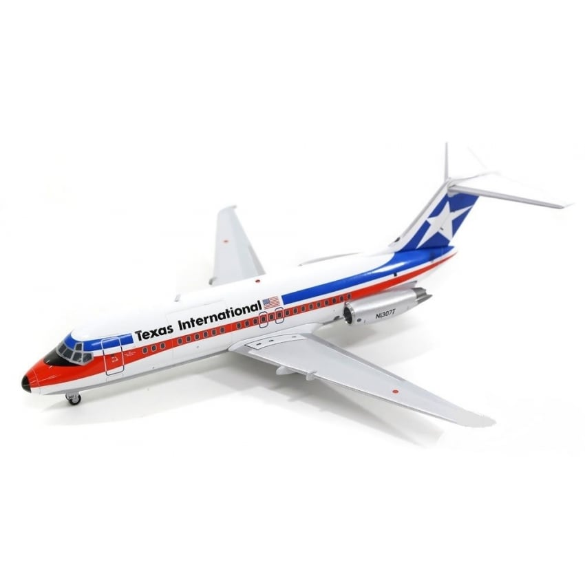 DC-9 Texas International Diecast Model - Scale 1:200