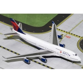 Delta Airways Boeing 747-400 Diecast Model - Scale 1:400
