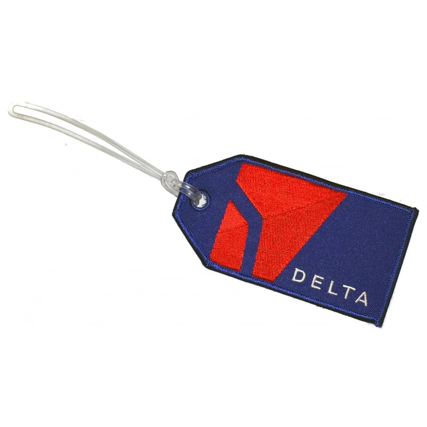 Delta Embroidered Baggage Tag