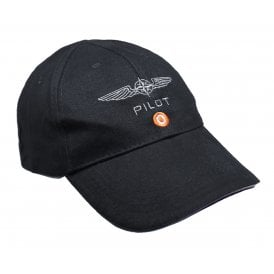 Design4Pilots Pilot Cotton Cap in Black