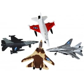 Die Cast Pull Back USAF Fighter