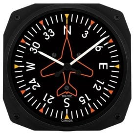 "Trintec Directional Gyro 10"" Wall Clock - Dispatch Series"