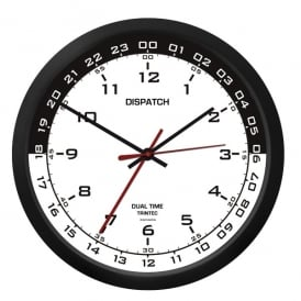 "Trintec Dispatch 10"" Clock with White / Black Dial"