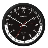 "Dispatch 10"" Clock with White / Black Dial"