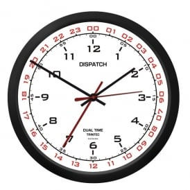 "Trintec Dispatch 10"" Clock with White Dial"