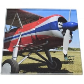 art2glass Display Bi-Plane Glass Coaster Single in Box