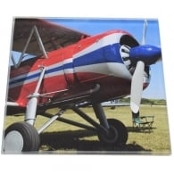 Display Bi-Plane Glass Coaster Single in Box