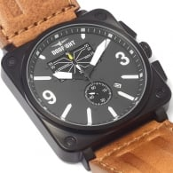 Dogfight Wingman Watch - Brown Strap
