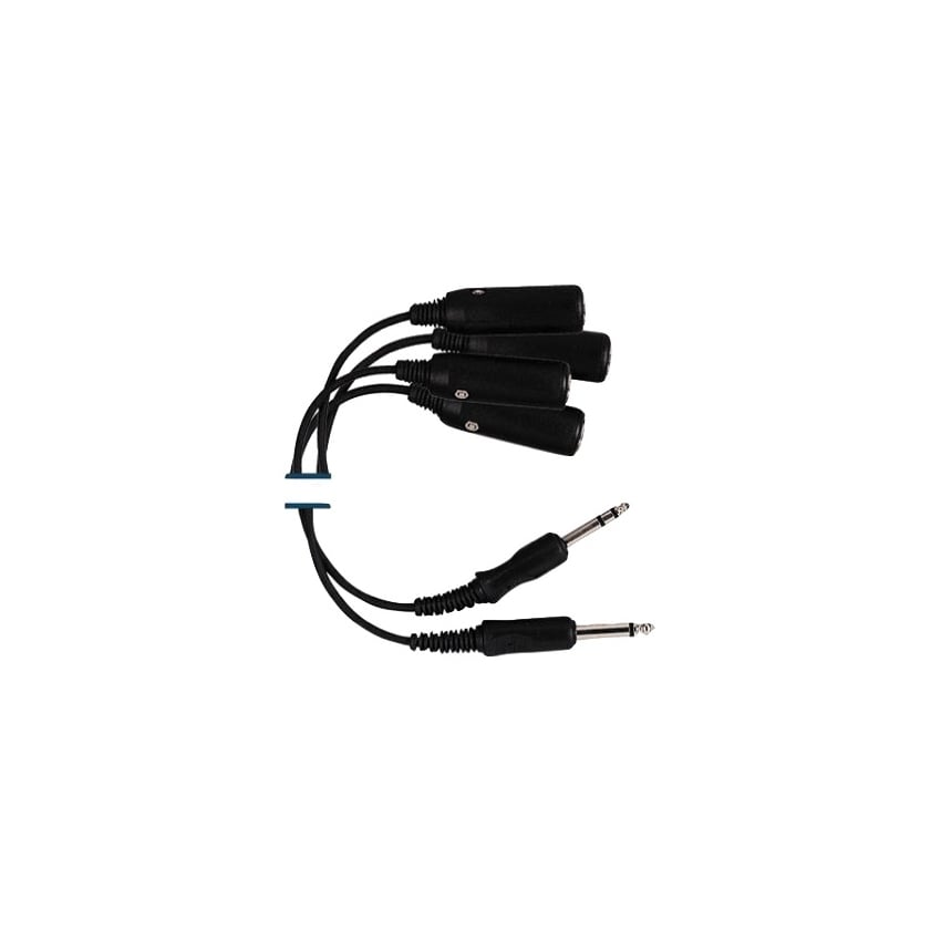 Double Headset Adapter for pilot headsets