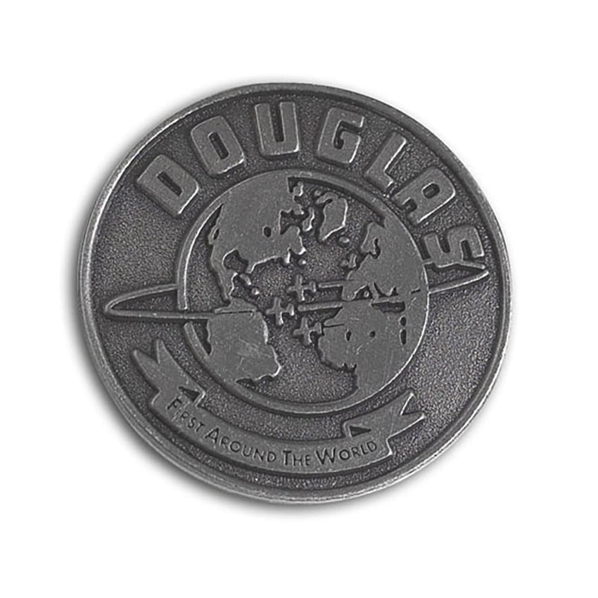 Douglas Round The World Pin Badge