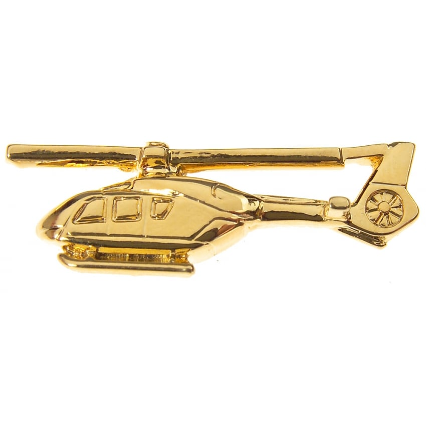 EC135 Helicopter Boxed Pin - Gold