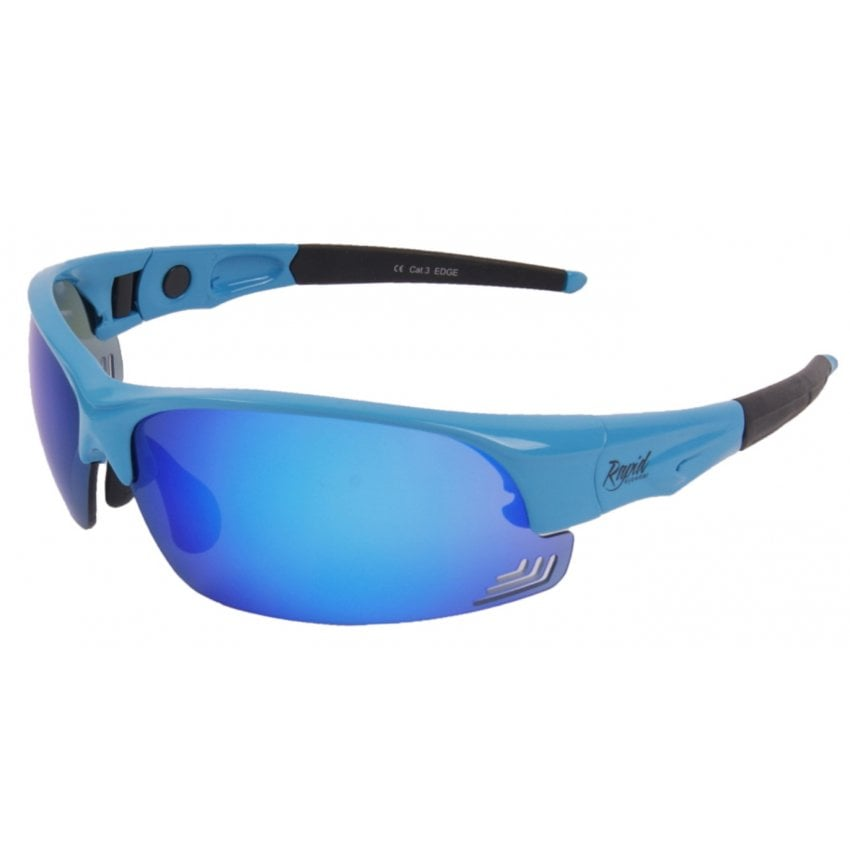 Edge Blue Pilot Sunglasses