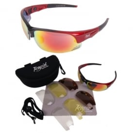 Edge Cyclist's Sunglasses in Red