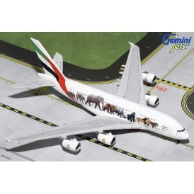 Emirates A380-800 Wildlife 3 Diecast Model - Scale 1:400