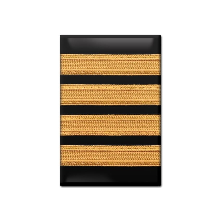 Epaulette Fridge Magnet - 4 Bar Gold