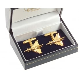 Clivedon Eurofighter Cufflinks - Gold Plated