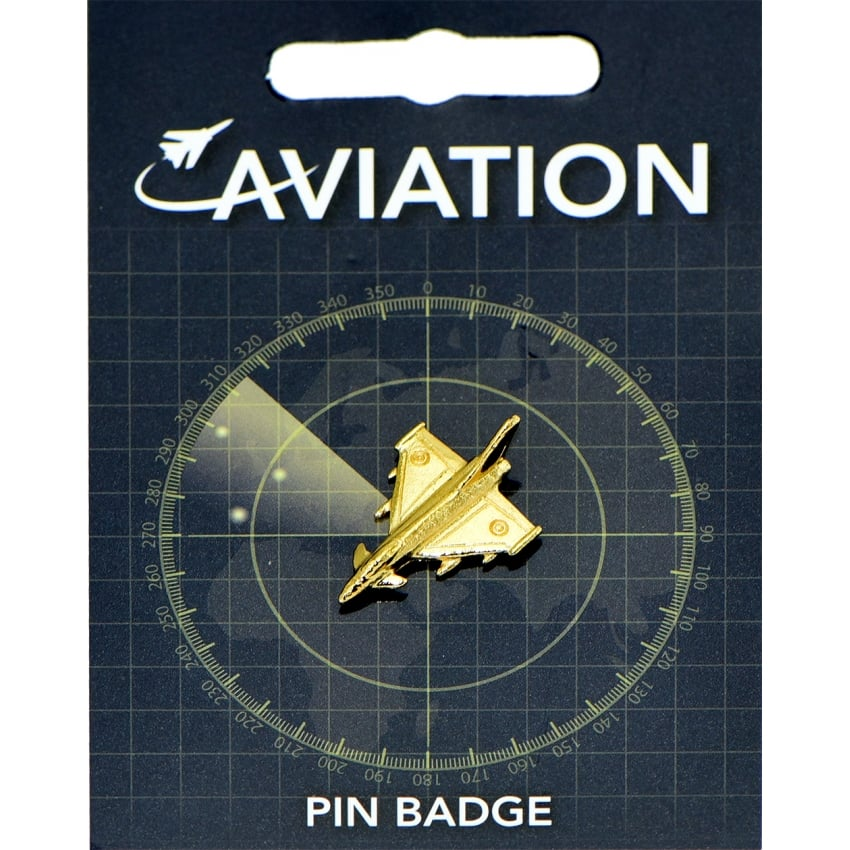 Eurofighter Gold Plated Pin Badge