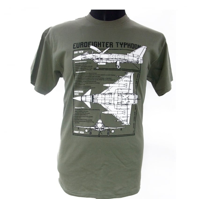 Eurofighter Plan Motif T-Shirt