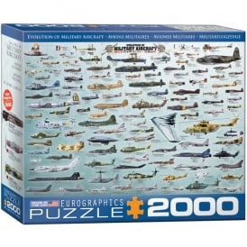 EuroGraphics Evolution of Military Aircraft Jigsaw (2000 pieces)
