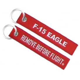 F-15 Remove Before Flight Embroidered Keyring