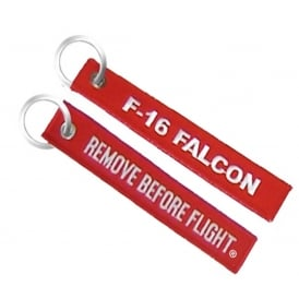 F-16 Remove Before Flight Embroidered Keyring