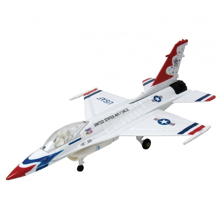 F-16 Thunderbird Die Cast Scale Model Aircraft